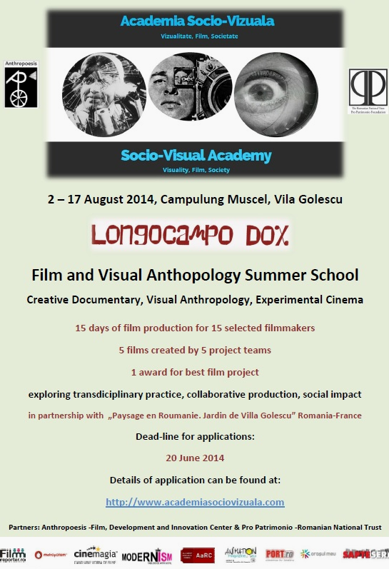 Longocampo Dox - Film and Visual Anthropology Summer School. Poster