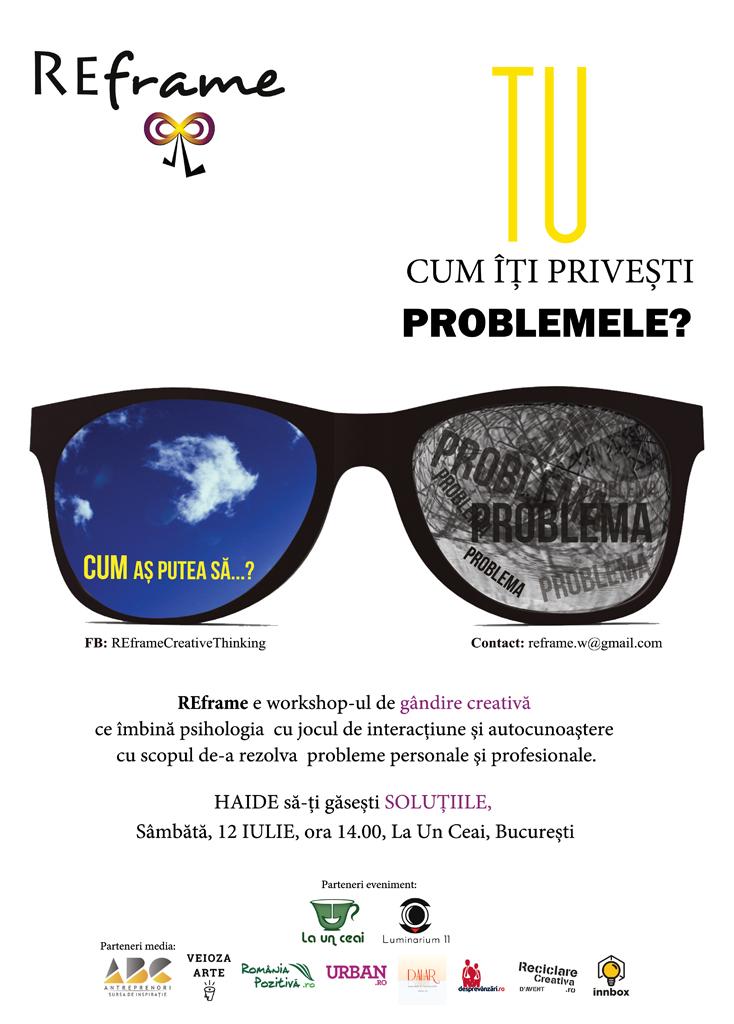 REframe - gândește creativ(12 iulie, București)